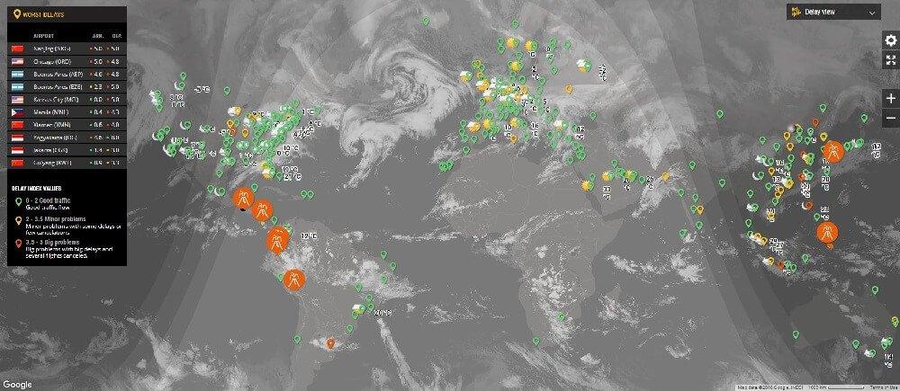 Los retrasos en flight radar24