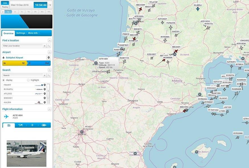 CasperFlights – seguimiento de aviones en linea