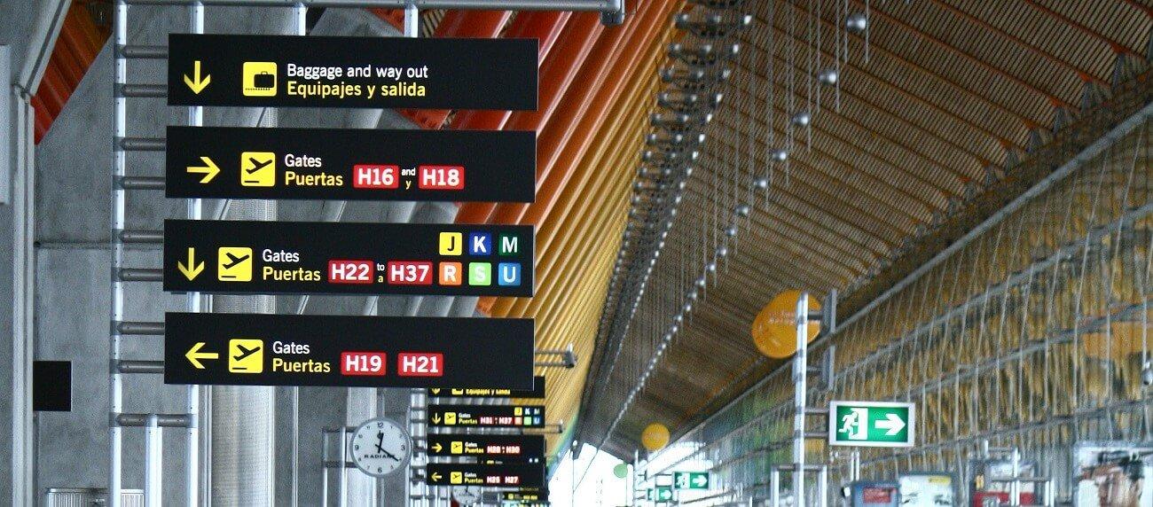 El aeropuerto de Madrid Barajas salidas