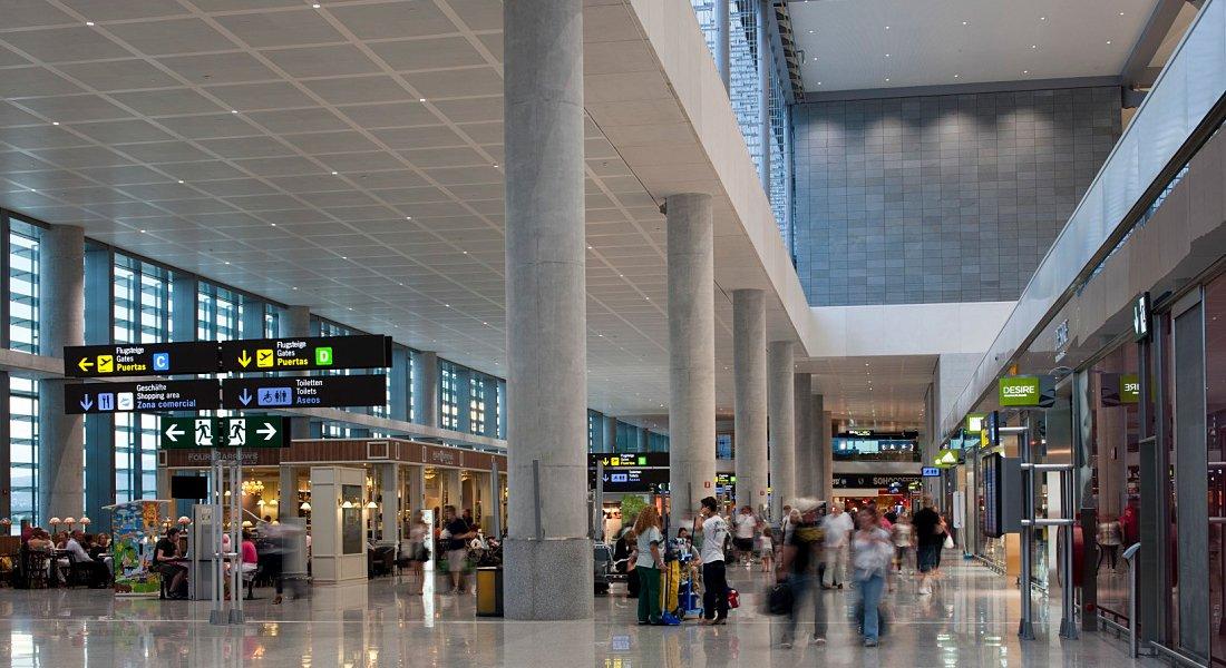 Tablero en línea del aeropuerto de Malaga llegadas